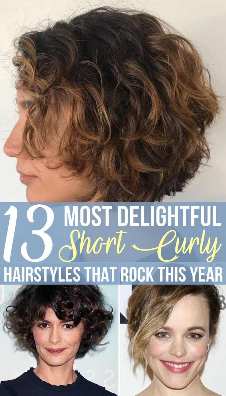 10 Most Delightful Short Curly Hairstyles That Rock This Year
